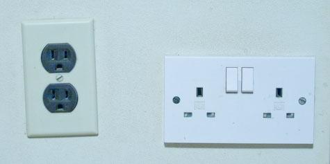 110v and 220v outlets